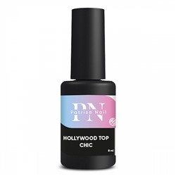 8 мл, Patrisa Nail, Топ без липкого слоя Hollywood-Top Chic с голубым перламутром